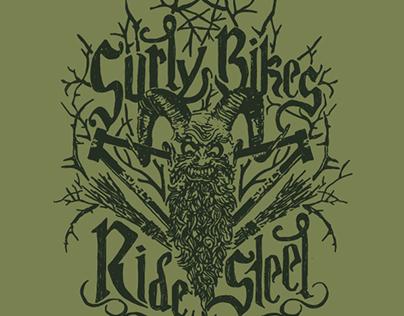 Surly Bikes Ride Steel T-Shirt