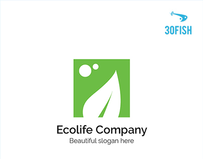 30Fish - Ecolife Logo Design