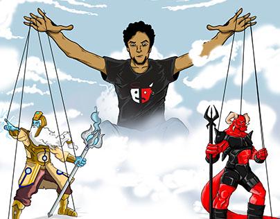 Comic and Tshirt Art Work - Pavitra Papi