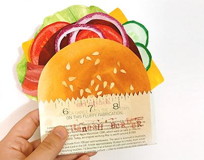 Collage art —— Hannah's Burger