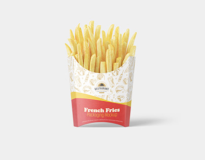 French Fries Packaging Mockup