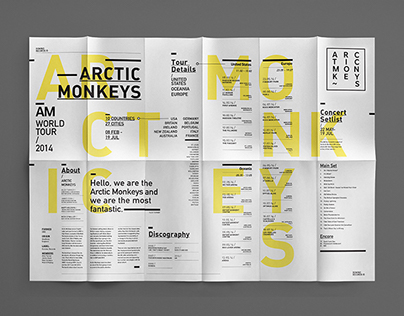 Arctic Monkeys Typographic Poster