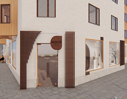 Storefront and facade for Mojo Cacao