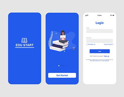 Educational mobile app (Splash and Login screen)