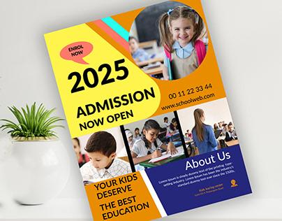 Kids School admission Flyer design