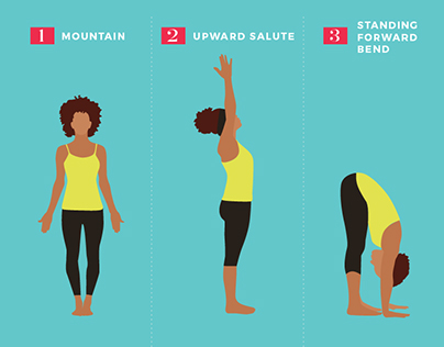 Infographic: 10 Yoga Poses for Stress Relief