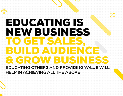 Educating is new Business Social Media Post