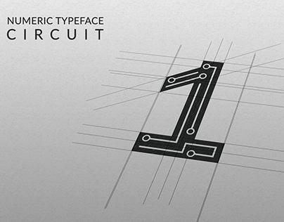 Numeric Typeface : Circuit
