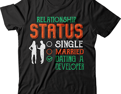 Relationship status single married t shirt design
