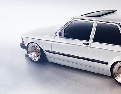 Automotive Rendering: BMW E21