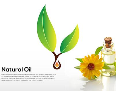 Branding Identity logo (Natural Oil logo design)