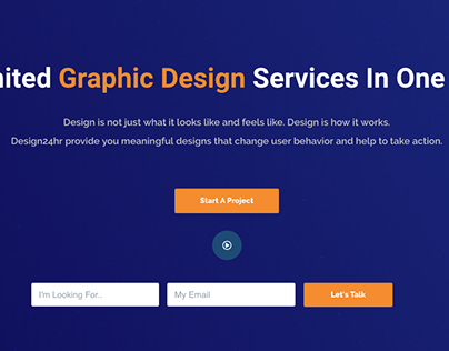New Website design project for my creative agency