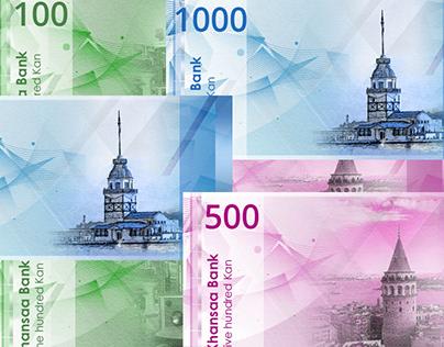 Maquette imaginé d'un Billet de Banque