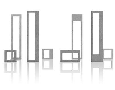 light in frames of concrete