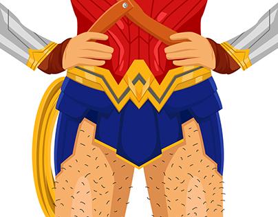 Wonder Woman with body hair