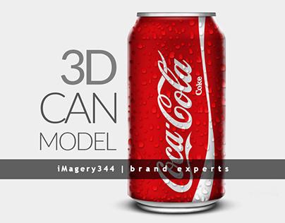 3D Coca Cola Coke can Design