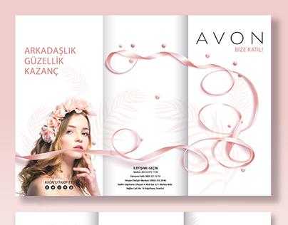"""REYHAN PİR - """"AVON"""" Broşür Tasarımı"""