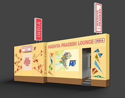 Space branding for MP Lounge in World Economic Forum'20