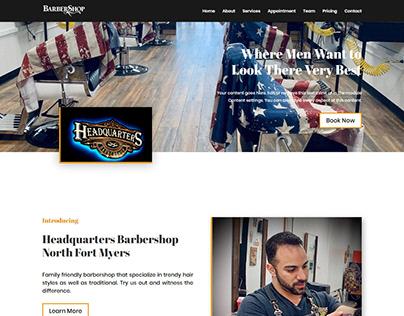 Barber shop web design