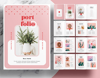 InDesign Template - Editorial Portfolio Brochure Layout