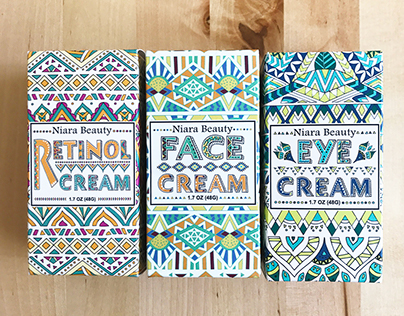 Package and Label Designs for Niara Beauty Line