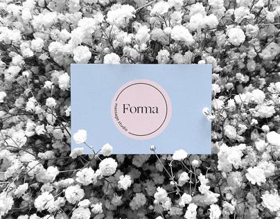 Forma — brand identity for massage studio