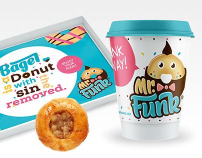 Mr. Funk & Ms. Bagel - Donut Shop Budapest Branding