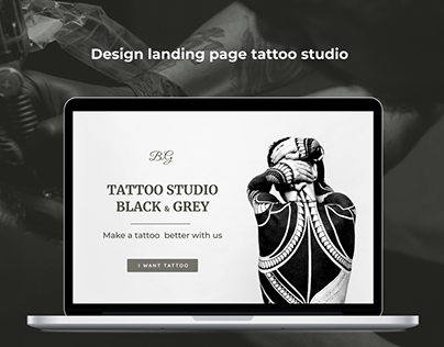 Landing page tattoo studio