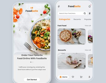 Foodbelle App Concept - UI/UX Design