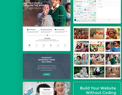Nonprofit WordPress theme - Features