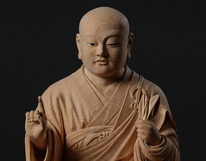 Sitting KŪ-KAI (空海 坐像)