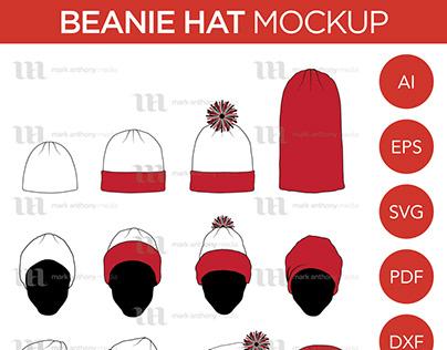 Beanie Hat - Vector Template Mockup