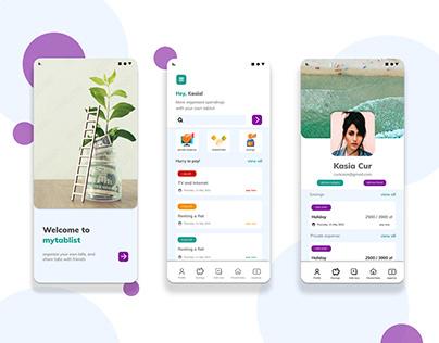 Mobile app interface | studying ui&ux design 2021