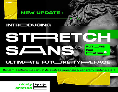 Stretch Sans - STRRETCH SAANS TYPEFACE