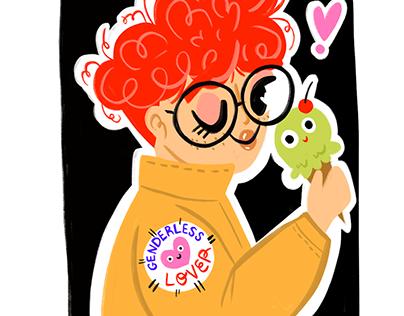 Miscellaneous Self love illustrations