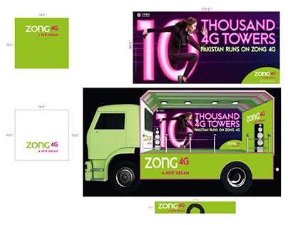 Float Branding | 10 Thousand 4G Towers | ZONG 4G