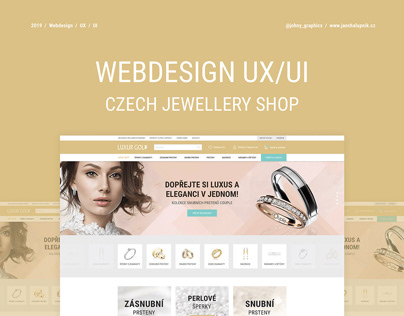 Webdesign eshop UX/UI - Czech jewellery shop