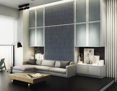 Space saving solutions for a studio apartment