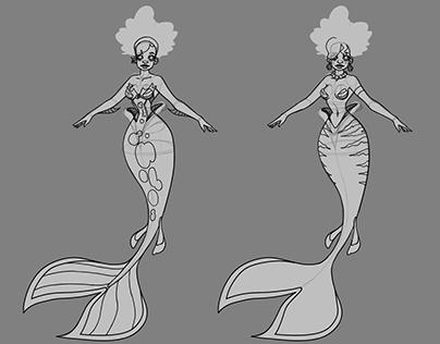 Mermaid Character Rotation