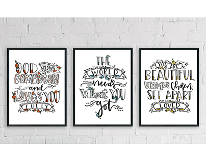 Hand Lettered Poster Series
