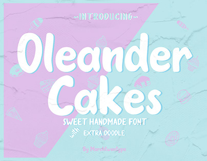 Oleander Cakes _ Sweet Handmade Font