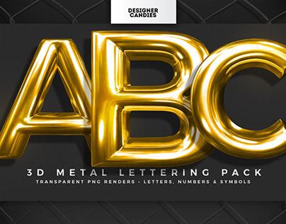 3D Metal Lettering (PNGs)