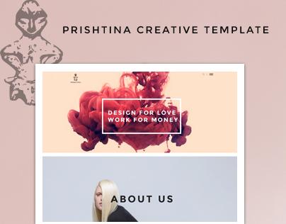 Prishtina Creative Portfolio Template