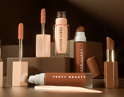Fenty Beauty Products CG Renders Shoots