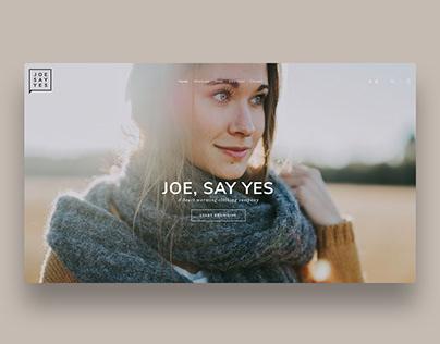 JOE, SAY YES