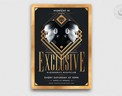 Exclusive Party Flyer Template V2