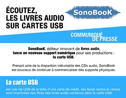 PRESS RELATIONS // LIVRE AUDIO USB - ÉDITIONS SONOBOOK
