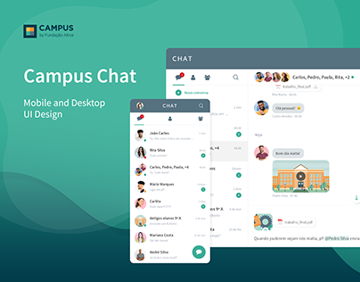 Chat for Campus Technology - UI Design