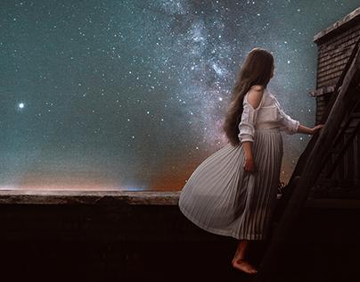 photo manipulation   فتاة النجمة