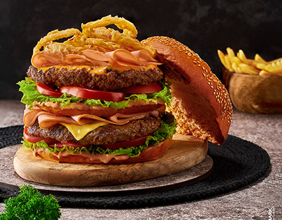 Food Photography Session/ Burger and Pizza